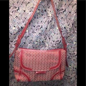 Max New York's Man Made Red & White Shoulder Bag
